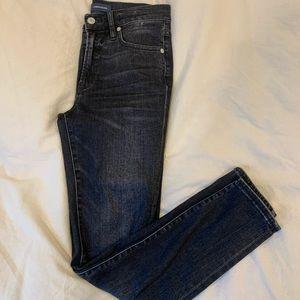 J Crew High Rise Toothpick Black Jeans